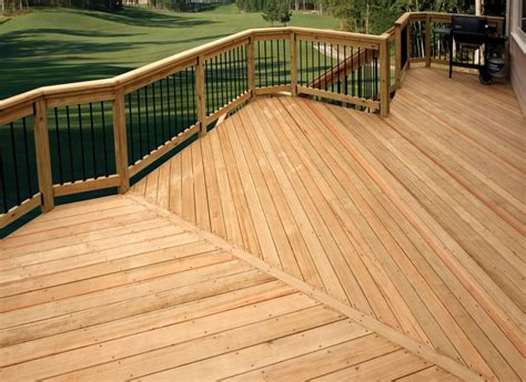 Yellow Wood Deck Plans