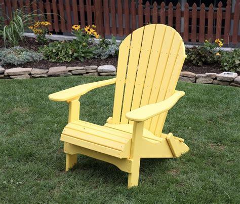 Yellow-Poly-Lumber-Folding-Adirondack-Chair