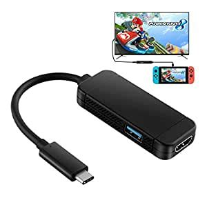 YockTec Nintendo Switch Dock,3 in 1 USB HDMI and Type-C Mini HDMI Adapter, Multi-Port HDMI Type C Hub Converter for Nintendo Switch