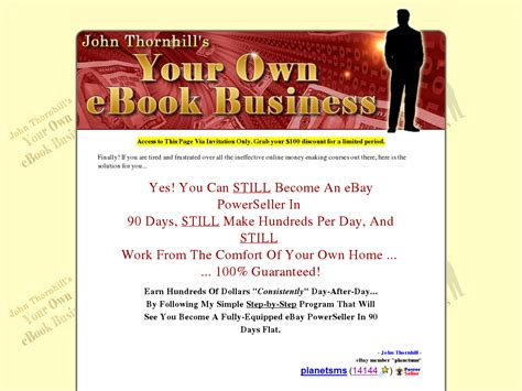 @ Your Own Ebook Business By John Thornhill - Dailymotion Com.