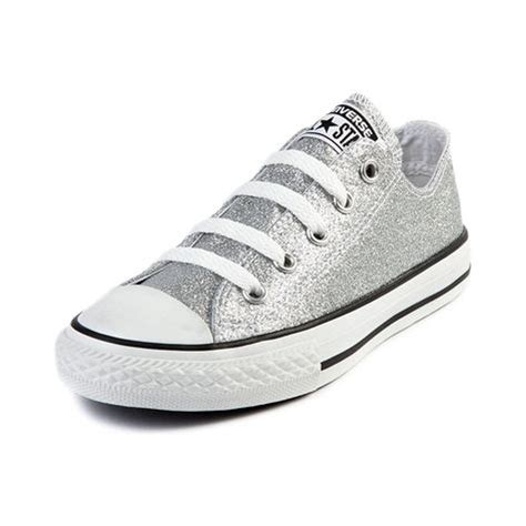 Youth Converse All Star Lo Glitter Sneaker Silver
