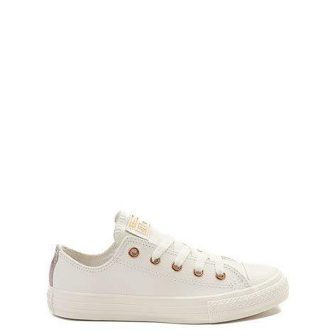 Youth Converse Chuck Taylor All Star Lo Leather Sneaker Ivory
