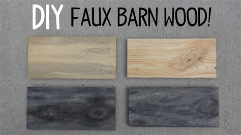 Youtube And Diy Faux Barn Wood