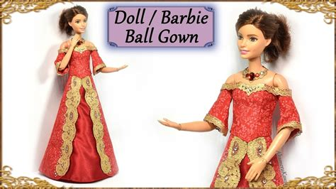 Youtube Diy Barbie Doll Gowns