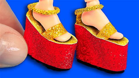 Youtube Diy Barbie Shoes