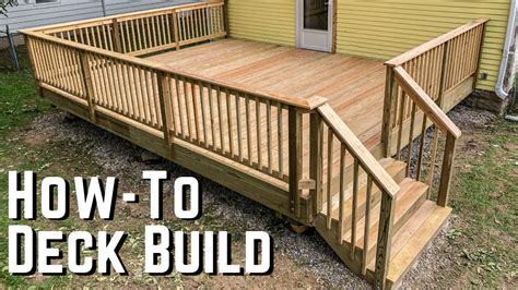 Youtube How To Build A Wood Deck