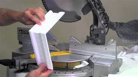 Youtube How To Cut Crown Molding Return