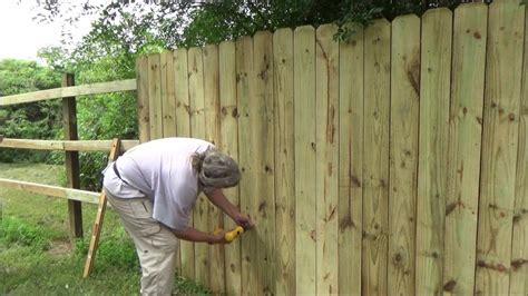 Youtube How To Install A Wood Fence