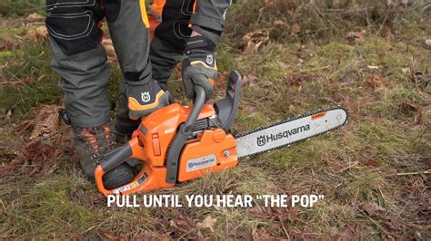 Youtube How To Start A Husqvarna 445 Chainsaw