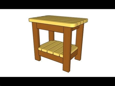 Youtube Outdoor Side Table Plans