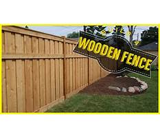 Best Youtube how to build a wood fence