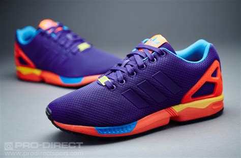 ZX Flux Men's Running Shoes Collegiate Purple/Solar Red b34491