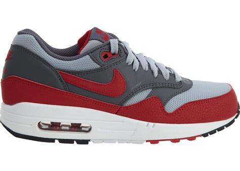 [537383-062] AIR Max 1 Essential Mens Sneakers Wolf Grey Gym RED
