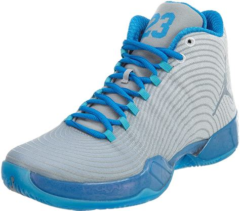 [749143-104] AIR Jordan XX9 Playoff Pack Mens Sneakers AIR JORDANWHITE Cool Grey Photo Blue Turquoise BLUEM