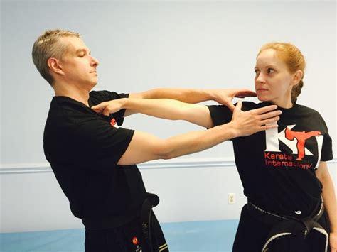 A Cupped Hand Self Defense Throat Strike