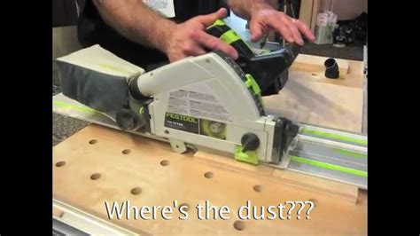 A demo of the festool tsc 55 dust free cordless track saw Image