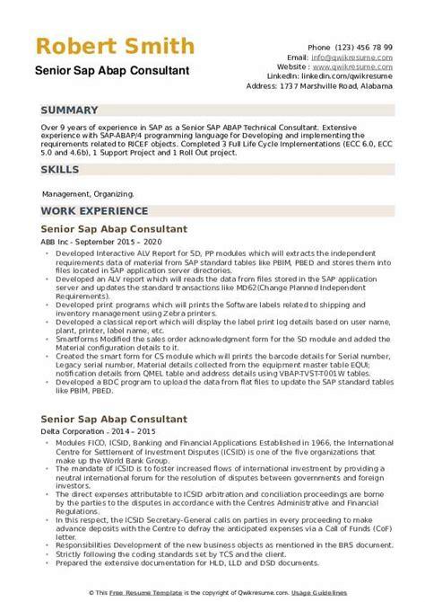 Abap Consultant Resume Crm Developer Cover Letter Sarahepps Com ...