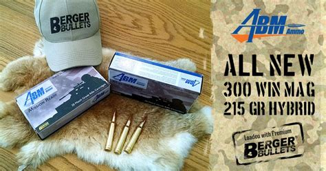 Abm Launches A New 300 Win Mag Mission Ready Round Loaded And Remington 308 Winchester 180 Grain Corelokt Soft Point