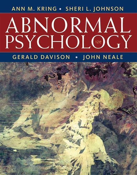Abnormal Psychology Kring Pdf