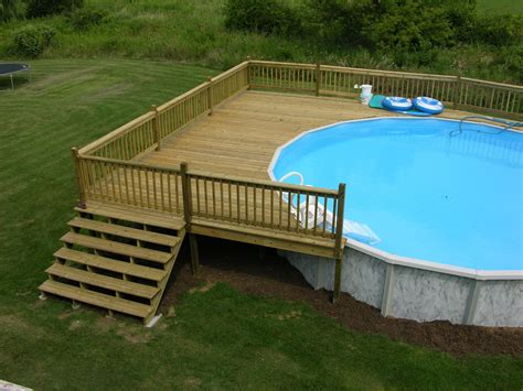 Above ground pool deck plans free Image