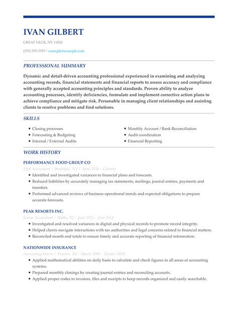 Accounting Functional Resume | Curriculum Vitae Formato ...