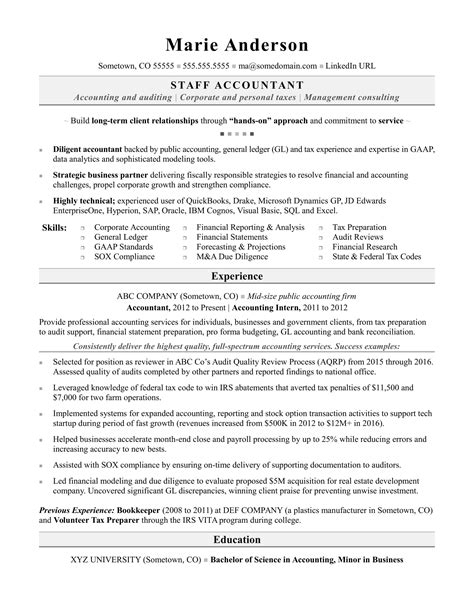 Cover Letter Accounting Resume Objectives With Experience
