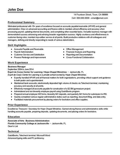 Accounts Receivable Resume   Resume Cover Letter Samples ...