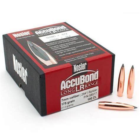 Accubond Lr 7mm 175 Grain Bullet 100ct Shop Nosler Com