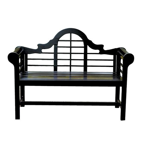 Achla designs black lutyens bench Image