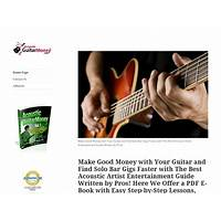 Acoustic guitar money: make good money playing guitar! tutorials