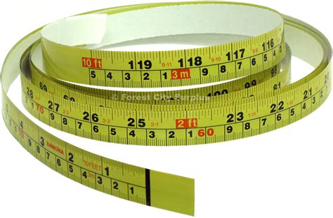Adhesive tape measure right to left Image