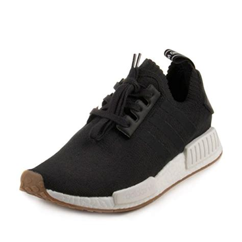 adidas NMD_R1 Primeknit Gum Pack Men's Shoes Black/Gum/Running White by1887 (9.5 D(M) US)