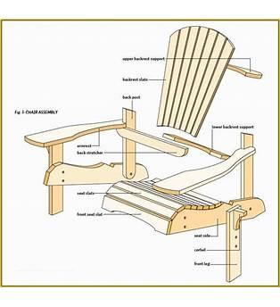 Adirondack Chair Plans Templates By Ebay