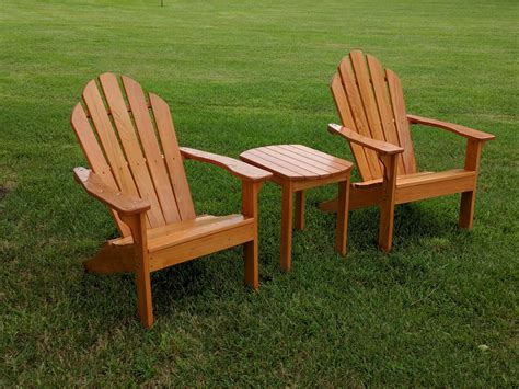 Adirondack chairs and tables Image