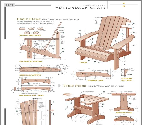 Adirondack glider chair plans free Image
