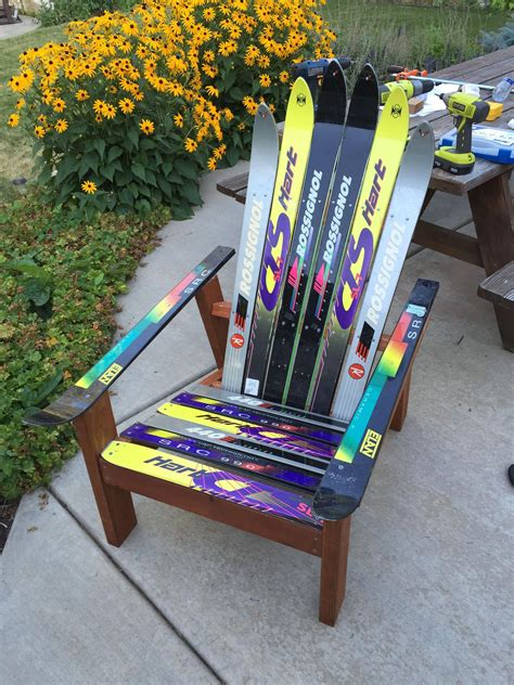 Adirondack ski chair plans Image