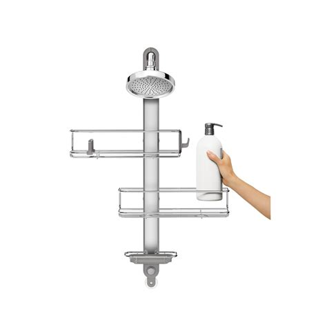 Adjustable Shower Caddy, Stainless Steel + Anodized Aluminum