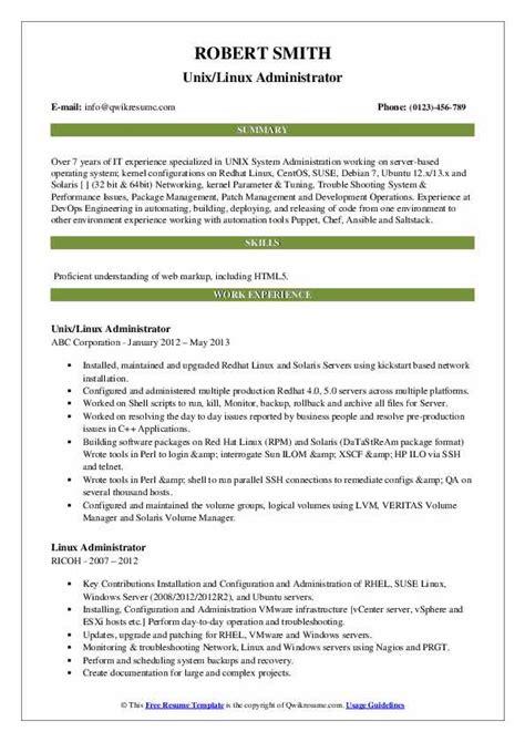 Administrator Linux Cv | Cover Letter Uk Embassy
