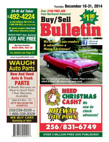 Ads Are Free 100 Buy Sell Bulletin Manualzz Com