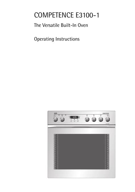 aeg electrolux competence oven manual pdf manual