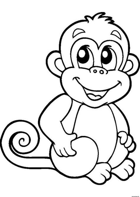 Affe Malvorlage Einfach