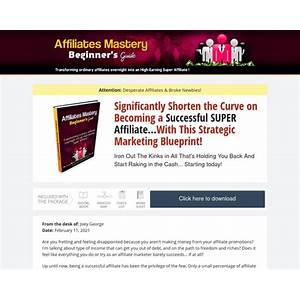 Affiliates mastery does it work?