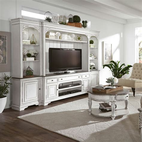 Affordable White Entertainment Center Image