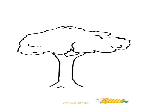 Afrikanischer Baum Malvorlage