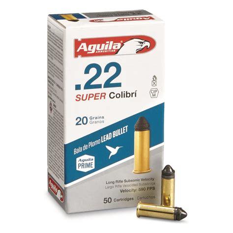 Aguila 22 Colibri 20 Grains Long Rifle Subsonic Velocity Powderless