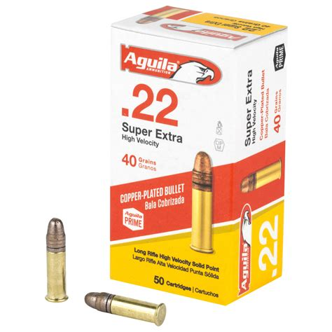 Aguila 22 Super Extra Long Rifle High Velocity Nickel Casing