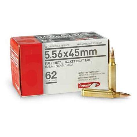 Aguila Ammo 5 56x45mm 5 56 NATO 62 Grain FMJBT 1E556110