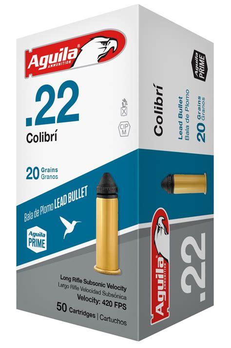 Aguila Colibri Ammo 22 Long Rifle 20gr Lead Colibri 22 Long Rifle 20gr Lead Colibri 50box