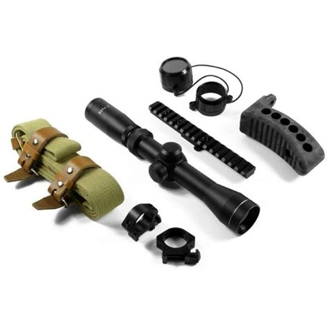 Aim Sports 27x32 Mosin Nagant Optics Rifle Scope Combo Kit And Allen Company Ruger Sporter Scoped Rifle Case