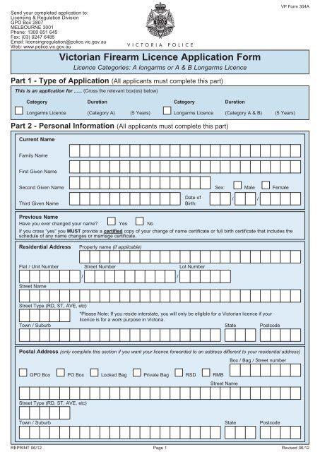 Air Rifle Licence Vic